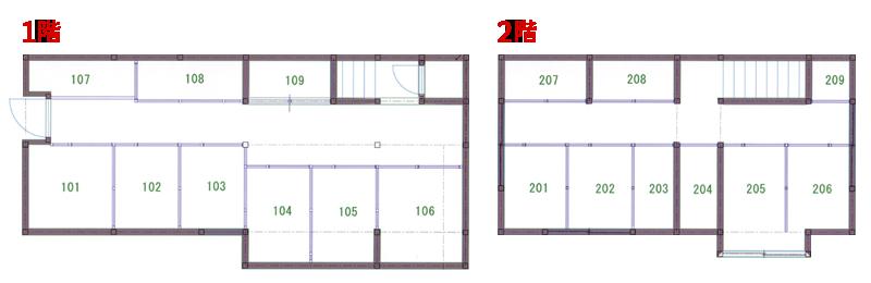 トランクルーム平面図